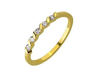 Золота каблучка з діамантами 3б_к-204 фотографія