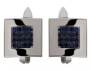 Золоті сережки з сапфіром 11б_с-002 фотографія