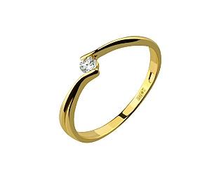 Золота каблучка з діамантами 3к-079 фотографія