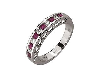 Золотое  кольцо с бриллиантом 01-17441159 фотография
