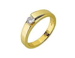 Золота каблучка з діамантом 01-17648359 фотографія