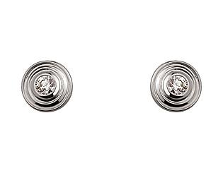Золотые серьги с бриллиантом 01-17676159 фотография