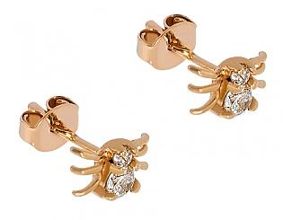 Золоті сережки з фіанітами 1-с-420 фотографія