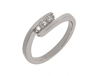 Золотое кольцо с бриллиантами 2к-270 фотография