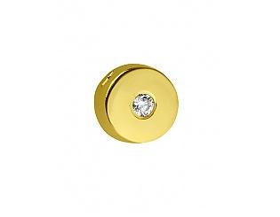 Золотий кулон з цирконіями 3п-182 фотографія