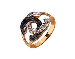 Золота каблучка з цирконієм куб. 01-17547960 фотографія