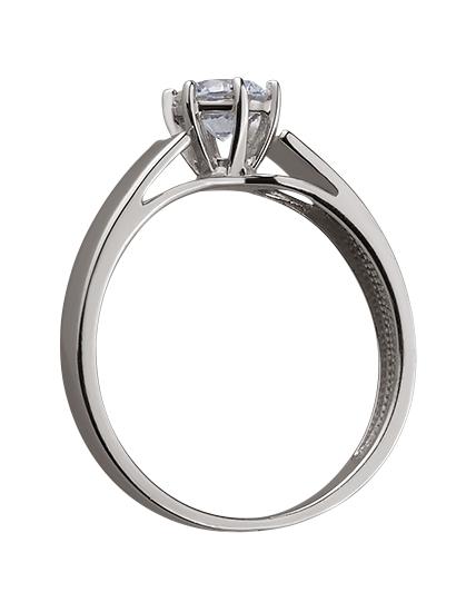 Золотое кольцо с цирконием куб. 01-17578960 фотография 2