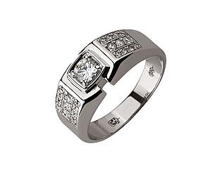 Золотое кольцо с бриллиантами 01-17620860 фотография