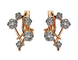 Золоті сережки з діамантами 4б_с-080 фотографія