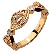 Золота каблучка з діамантами (1б_к-107)