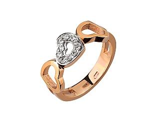 Золотое кольцо с цирконием куб. 8б_к-066 фотография