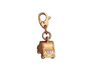 Золотий кулон з цирконіями 8б_п-149 фотографія