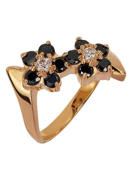 Золотое кольцо 585 пробы с фианитами (01-15597761)