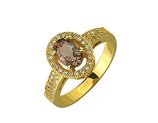 Золота каблучка з кварцом 01-17224961 фотографія