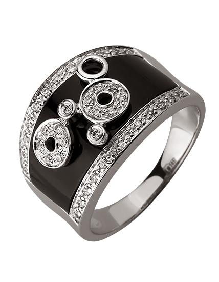 Золота каблучка з діамантами 01-17620861 фотографія 1