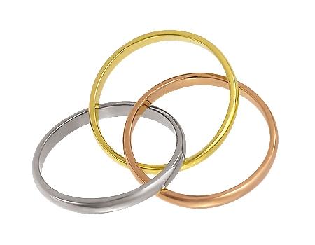 """Золотое обручальное кольцо 585 пробы (15-000063648) """"Ювелирная карта"""""""