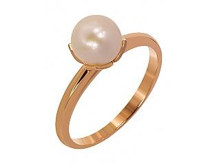 Золотое кольцо с жемчугом 1б_к-089 фотография
