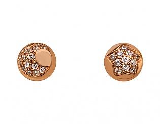 Золоті сережки з фіанітами 1б_с-093 фотографія