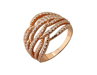 Золотое кольцо с фианитами 01-17293762 фотография