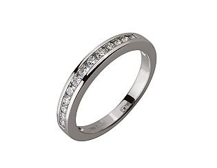 Золота каблучка з діамантами 01-17620862 фотографія
