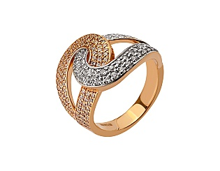 Золотое кольцо с фианитами 8б_к-160 фотография