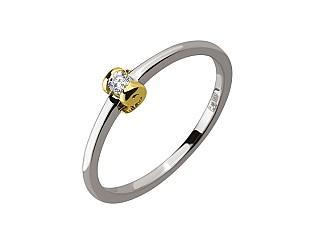 Золота каблучка з діамантом 01-17441163 фотографія