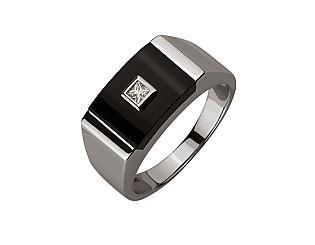Золотое кольцо с бриллиантами 01-17599263 фотография