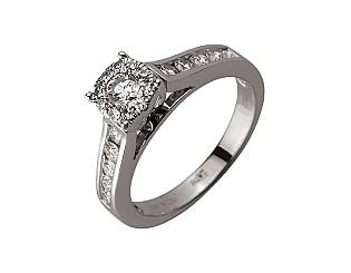 Золота каблучка з діамантами 01-17620863 фотографія