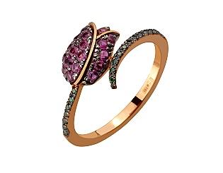Золотое кольцо с фианитами 10б_к-176 фотография