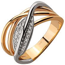 Золота каблучка з діамантами (4б_к-139)
