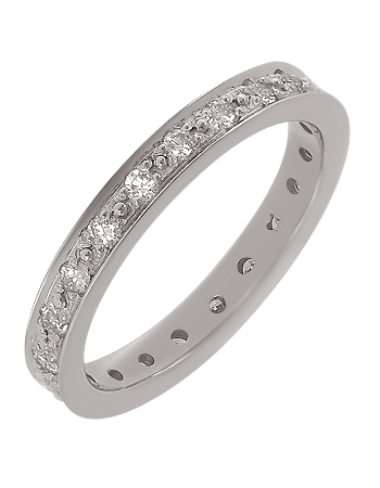 """Золотое обручальное кольцо 585 пробы с бриллиантами (15-000085749) """"Ювелирная карта"""""""