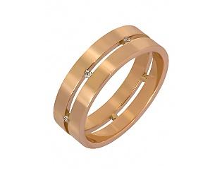 Золота каблучка з цирконіями 1к-227 фотографія