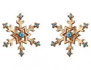 Золоті сережки з топазами 1б_с-105 фотографія