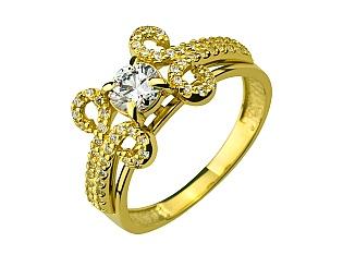 Золота каблучка з фіанітом 01-17343564 фотографія