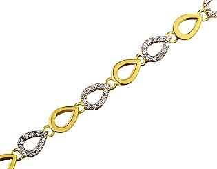 Золотий  браслет з цирконієм куб. 01-17656564 фотографія