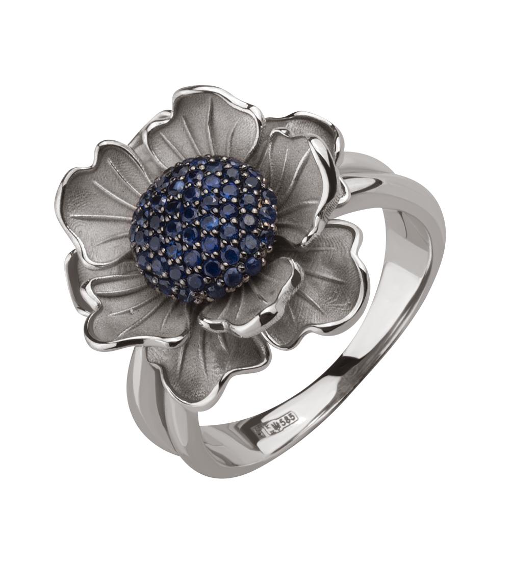 Золотое кольцо с сапфирами (15-000126565)