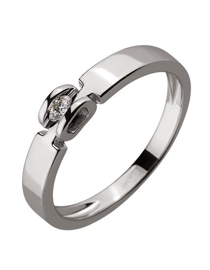 Золота каблучка з діамантом 01-17586565 фотографія 1
