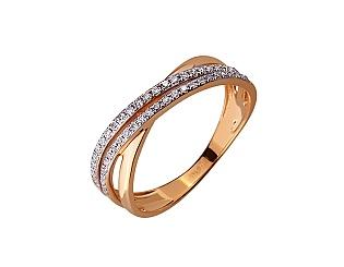 Золота каблучка з діамантом 01-17656565 фотографія
