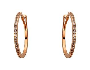 Золоті сережки з фіанітами 1б_с-086 фотографія