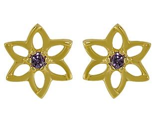 Золоті сережки з фіанітами 3-с-1050 фотографія