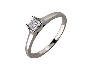 Золотое кольцо с бриллиантом 01-17668666 фотография