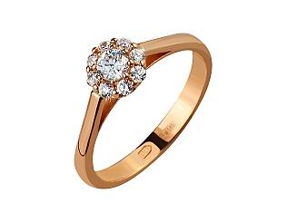 Золотое кольцо с фианитами 1б_к-145 фотография