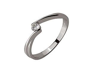 Золота каблучка з діамантом 01-17656567 фотографія