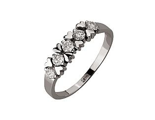 Золота каблучка з діамантами 01-17668667 фотографія