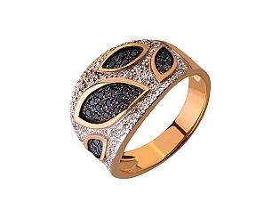 Золотое кольцо с цирконием куб. 01-17676167 фотография