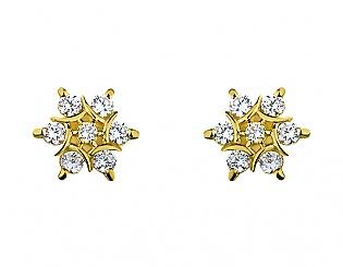 Золоті сережки з цирконіями 3б_с-064 фотографія