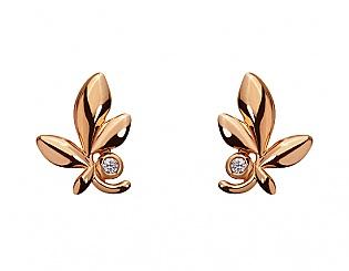 Золоті сережки з фіанітом 1с-172 фотографія