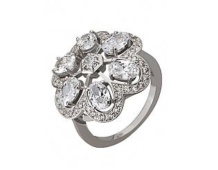 Золотое кольцо с фианитами и цирконием куб. 2б_к-034 фотография