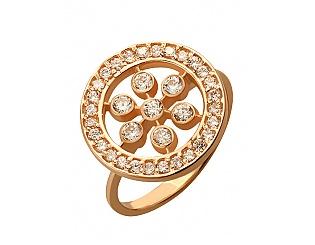 Золотое кольцо с фианитами 1-к-238 фотография