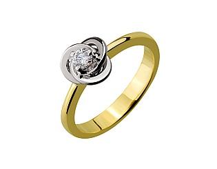 Золота каблучка з діамантами 01-17298768 фотографія
